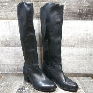 Sam Edelman Loren Black Leather Boots 7.5